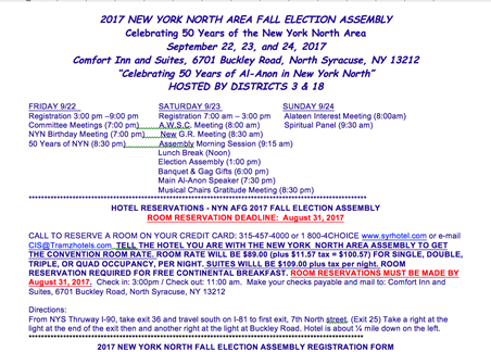 Fall 2017 Assembly Registration Form